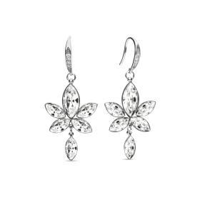 Kolczyki z kryształami Swarovskiego Spark Lotus KWCD4228C