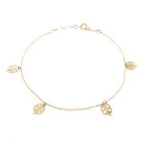 Bransoletka celebrytka złota koniczynka FUG1517-63200