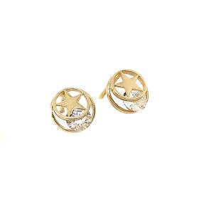 Kolczyki złote gwiazdy z cyrkoniami FUG5ECF-6739F