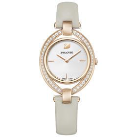Zegarek Swarovski • Stella Watch, Leather strap, Gray, Rose gold tone 5376830