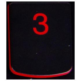 Klawisz 3 Lenovo Y530 Y540 red