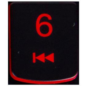 Klawisz 6 Lenovo Y530 Y540 red