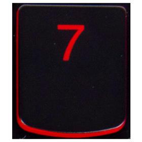 Klawisz 7 Lenovo Y530 Y540 red