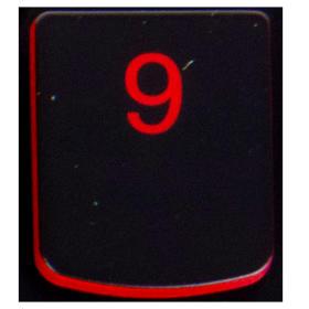 Klawisz 9 Lenovo Y530 Y540 red