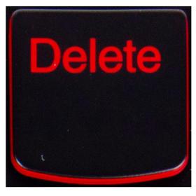Klawisz Delete Lenovo Y530 Y540 red