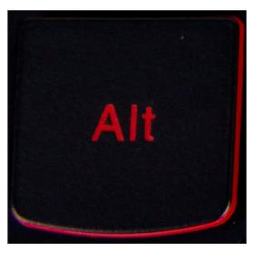 Klawisz ALT Lenovo Y530 Y540 red