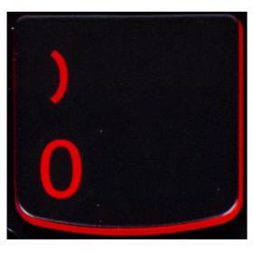 Klawisz CYFRA 0 Lenovo Y530 Y540 red