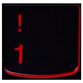 Klawisz CYFRA 1 Lenovo Y530 Y540 red