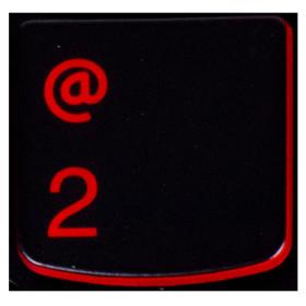Klawisz CYFRA 2 Lenovo Y530 Y540 red
