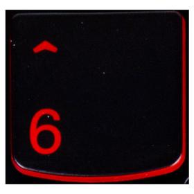 Klawisz CYFRA 6 Lenovo Y530 Y540 red
