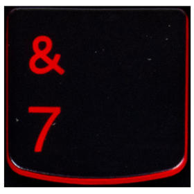 Klawisz CYFRA 7 Lenovo Y530 Y540 red