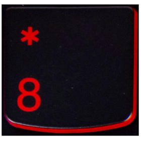 Klawisz CYFRA 8 Lenovo Y530 Y540 red