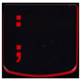 Klawisz dwukropek : Lenovo Y530 Y540 red