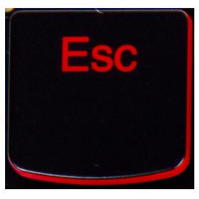 Klawisz ESC Lenovo Y530 Y540 red