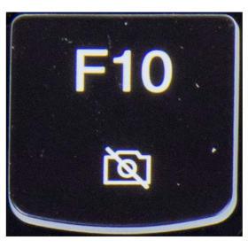 Klawisz F10 Lenovo Y530 Y540 biały