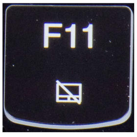 Klawisz F11 Lenovo Y530 Y540 biały