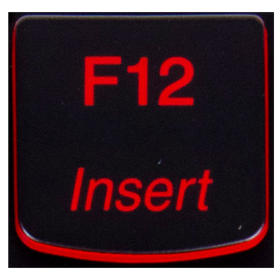 Klawisz F12 Lenovo Y530 Y540 red