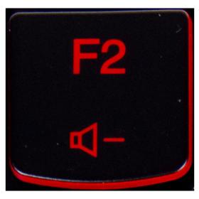 Klawisz F2 Lenovo Y530 Y540 red