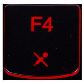 Klawisz F4 Lenovo Y530 Y540 red