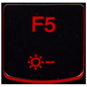 Klawisz F5 Lenovo Y530 Y540 red
