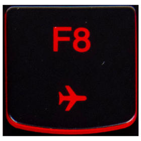 Klawisz F8 Lenovo Y530 Y540 red