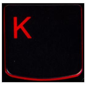 Klawisz K Lenovo Y530 Y540 red
