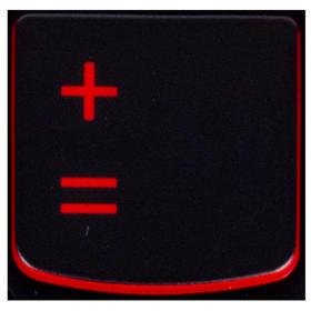 Klawisz +/= Lenovo Y530 Y540 red