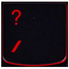 Klawisz PYTAJNIK Lenovo Y530 Y540 red