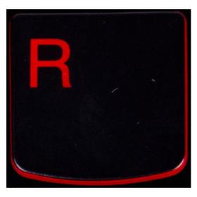 Klawisz R Lenovo Y530 Y540 red