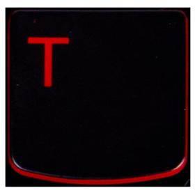 Klawisz T Lenovo Y530 Y540 red