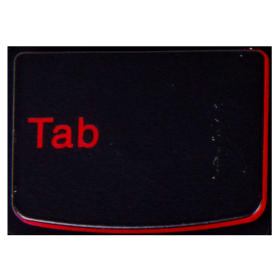 Klawisz TAB Lenovo Y530 Y540 red