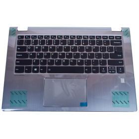 Palmrest klawiatura Lenovo Flex 6 Yoga 530 14 srebrny czytnik