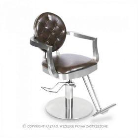 Fotel fryzjerski LOUIS brązowy