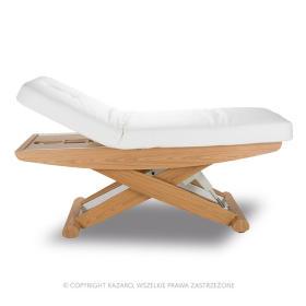 Łóżko kosmetyczne LUNA X PLUS z podgrzewaniem białe