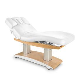 Łóżko kosmetyczne LUNA H PLUS z podgrzewaniem białe