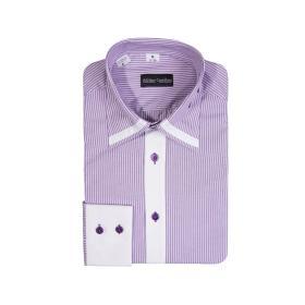 Koszula męska JSFPB SLIM FIT fioletowa
