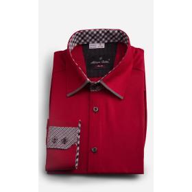Koszula Adriano Calitri JSCS SLIM FIT czerwona z detalem.