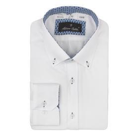 Koszula męska 63603 klasyczna biała