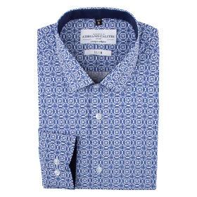 Koszula męska 90220603W długi rękaw slim